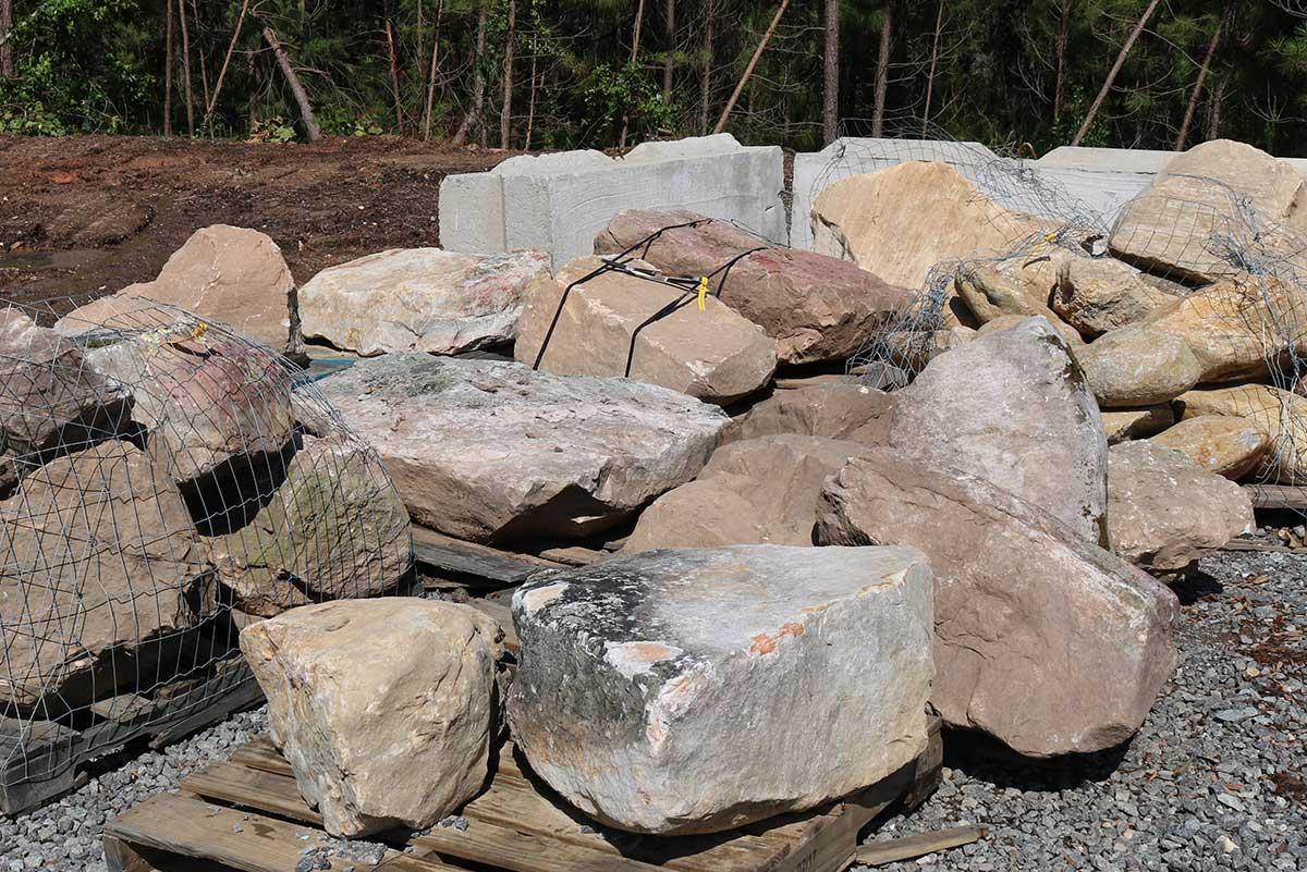 Palletized Boulders Delivered