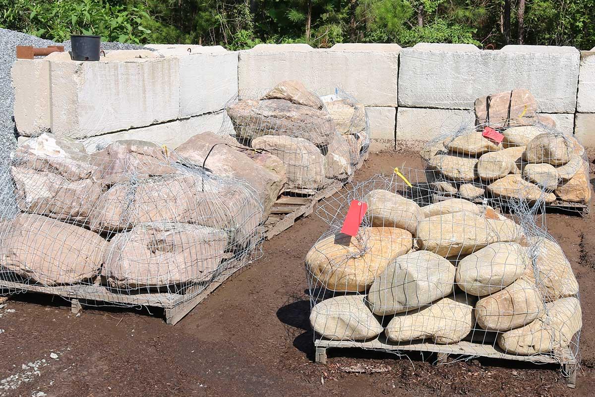 Palletized Stones Delivered